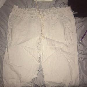 Roxy beige canvas pants
